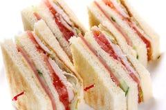 Smörgås med ketchup royaltyfria bilder