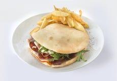 Smörgås med korven royaltyfri foto