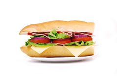 Smörgås med skinka och grönsaker Arkivbilder