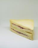 Smörgås med skinka, ost Royaltyfria Foton