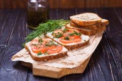 Smörgås med tomater Arkivbild