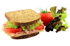 Smörgås och grönsaker arkivfoton