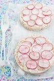 Smörgåsar för riskaka Royaltyfria Foton