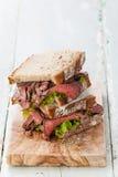 Smörgåsar för steknötkött Arkivbild