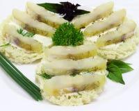 Smörgåsar med fisken Arkivbild