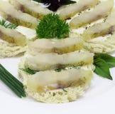 Smörgåsar med fisken Royaltyfria Foton