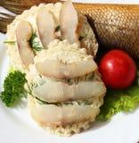 Smörgåsar med fisken Arkivbilder