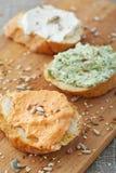 Smörgåsar med toppningar Fotografering för Bildbyråer