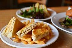 Smörgåsar på plattor Royaltyfria Foton