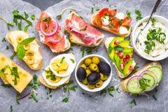Smörgåsar ställde in bakgrund royaltyfri foto