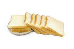 Smörgåsbröd som isoleras på vit bakgrund Royaltyfria Bilder