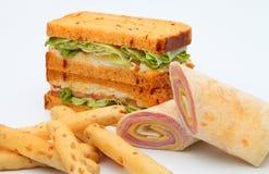 Smörgåsgrönsakrulle Royaltyfri Foto