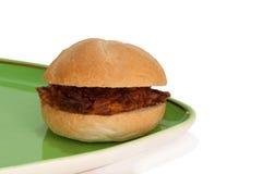 Smörgåsköttbollar på en platta Arkivbilder