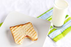 smörgåsrostat bröd royaltyfria bilder