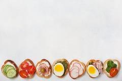 Smörgåsvariationer Fotografering för Bildbyråer