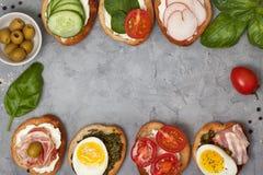 Smörgåsvariationer Royaltyfri Fotografi