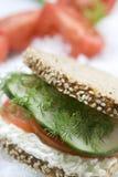 smörgåsvegetarian Arkivbilder