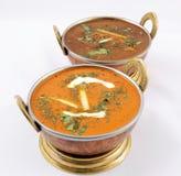 Smörhöna och curry för getkött Arkivfoto
