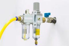 Smörjapparat för regulator för tryckluftfilter Arkivbild