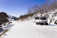 SM de weg van de sneeuwscooter Stock Afbeeldingen