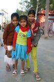 Små indiska flickor Arkivfoton