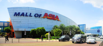 SM Mall of Asia. Manila, Philippines - April 03, 2012: SM Mall of Asia (MOA) is a shopping mall in Manila. SM Mall of Asia is the 2nd largest mall in the Royalty Free Stock Photo