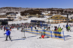 SM Perisher Town Crowd Stock Images