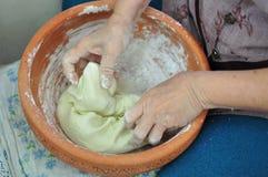 Smażąca babeczka z veggie materiału chińskim stylem Obrazy Royalty Free
