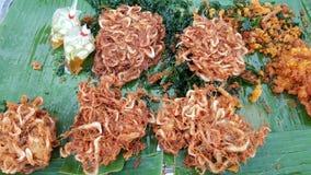 Smażąca garnela, Tajlandzki smażący jedzenie Zdjęcie Royalty Free