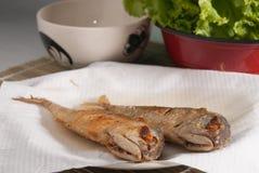 Smażąca makreli ryba Zdjęcia Royalty Free