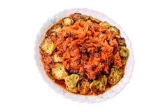 Smażąca oberżyna z warzywami Zdjęcie Royalty Free