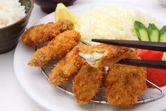 Smażąca ostryga, Japoński jedzenie obrazy royalty free