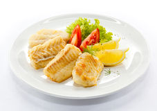 smażąca polędwicowa ryba Fotografia Stock