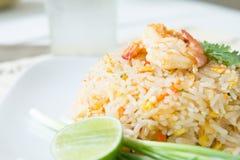 smażąca ryżowa garnela Zdjęcia Royalty Free