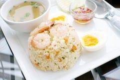 smażąca ryżowa garnela obraz stock