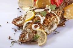 Smażąca ryba Zdjęcia Royalty Free