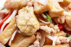 Smażąca tofu bobowa flanca Fotografia Royalty Free