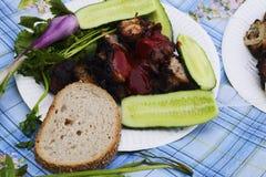 Smażąca wieprzowina dla lunchu fotografia royalty free