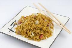 smażąca wieprzowiny ryż pieczeń Obrazy Royalty Free