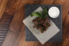 Smażący żyt croutons Zdjęcie Royalty Free