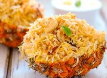 smażący ananasowi ryż zdjęcia stock