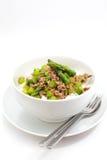 Smażący asparagus z wieprzowiną Fotografia Royalty Free
