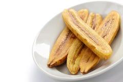 Smażący banana banan Obraz Stock