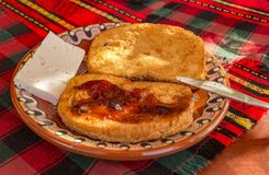 Smażący chlebów plasterki Zdjęcia Royalty Free