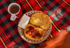 Smażący chlebów plasterki Zdjęcie Royalty Free