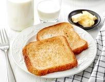 Smażący chlebów plasterki Obraz Royalty Free