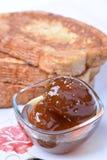 Smażący chlebów plasterki Bułgarski śniadanie Zdjęcia Royalty Free