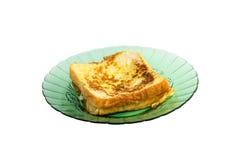 Smażący chleb zamaczający jajko Obraz Royalty Free