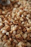 Smażący chlebowi croutons Obrazy Stock