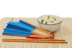 Smażący fan i ryż Zdjęcie Royalty Free